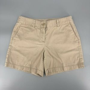 "Ann Taylor Loft 6"" Shorts Size 4 Khaki Tan Cotton"